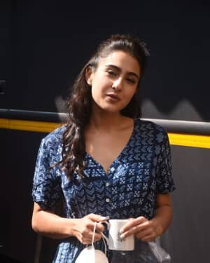 Sara Ali Khan - Photos: Promotion Of Film Coolie No 1 At Mehboob Studio