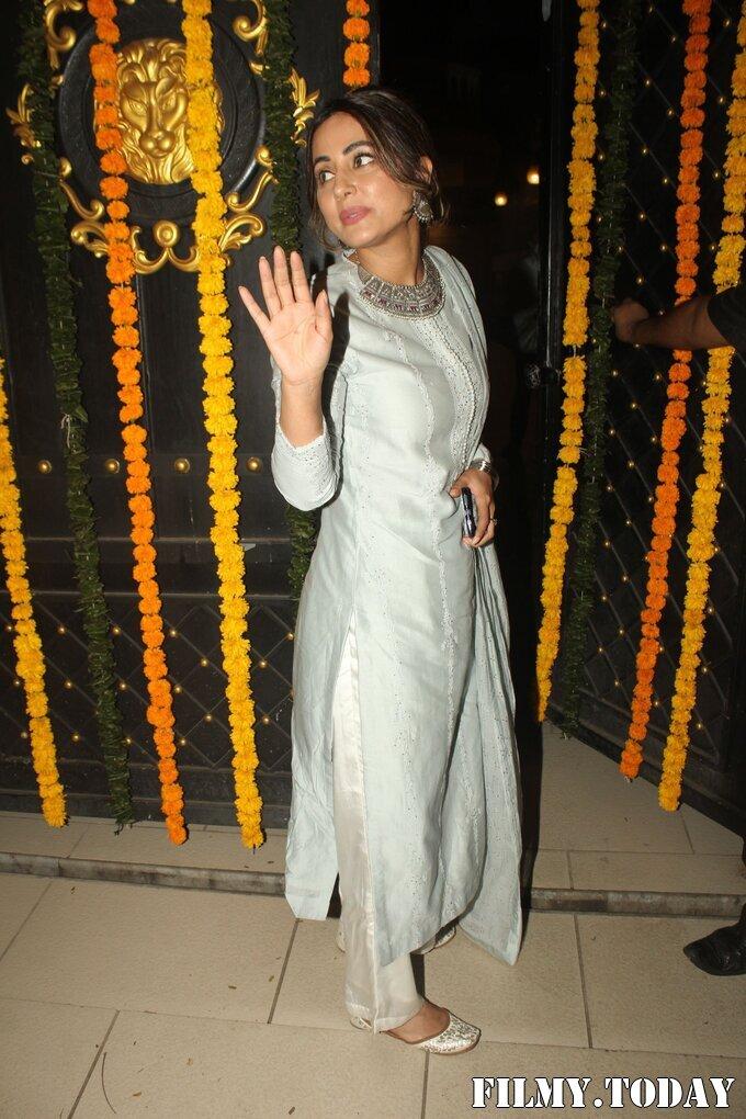 Hina Khan - Photos: Ekta Kapoor's Diwali Party At Her House | Picture 1751228