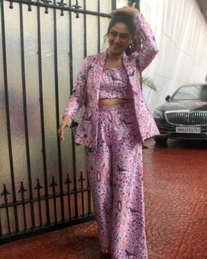 Krystle D'Souza - Photos: Celebs Spotted Outside Anand Pandit Office