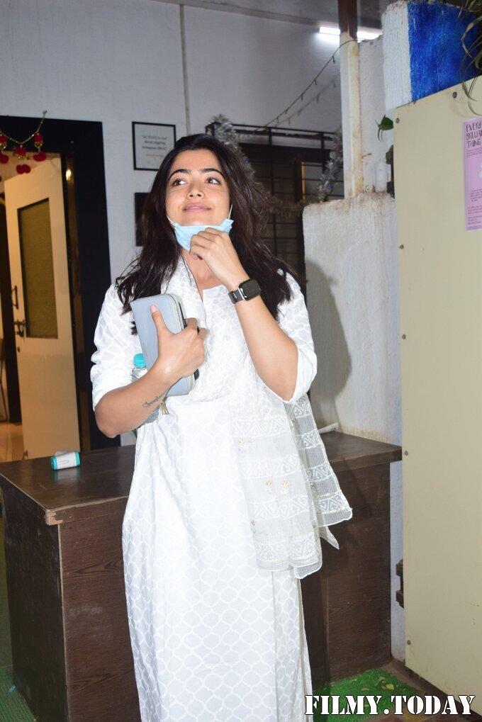 Rashmika Mandanna - Photos: Celebs Spotted At Mukesh Chhabra Office | Picture 1770522
