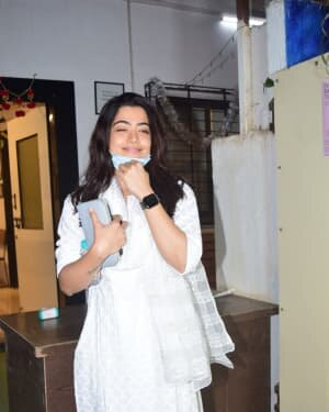 Rashmika Mandanna - Photos: Celebs Spotted At Mukesh Chhabra Office | Picture 1770523