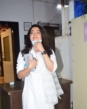 Rashmika Mandanna - Photos: Celebs Spotted At Mukesh Chhabra Office | Picture 1770522