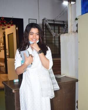 Rashmika Mandanna - Photos: Celebs Spotted At Mukesh Chhabra Office | Picture 1770528