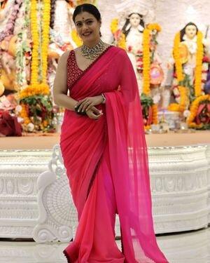 Kajol - Photos: Celebs At North Bombay Durga Pooja Samiti 2021 | Picture 1828537