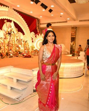 Tanisha Mukherjee - Photos: Celebs At North Bombay Durga Pooja Samiti 2021