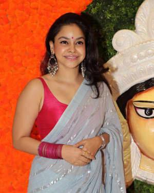Sumona Chakravarti - Photos: Celebs At North Bombay Durga Pooja Samiti 2021