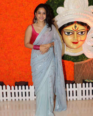 Sumona Chakravarti - Photos: Celebs At North Bombay Durga Pooja Samiti 2021 | Picture 1828600