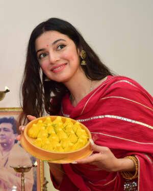 Divya Khosla Kumar Celebrates Ganesh Festival At T Series Office
